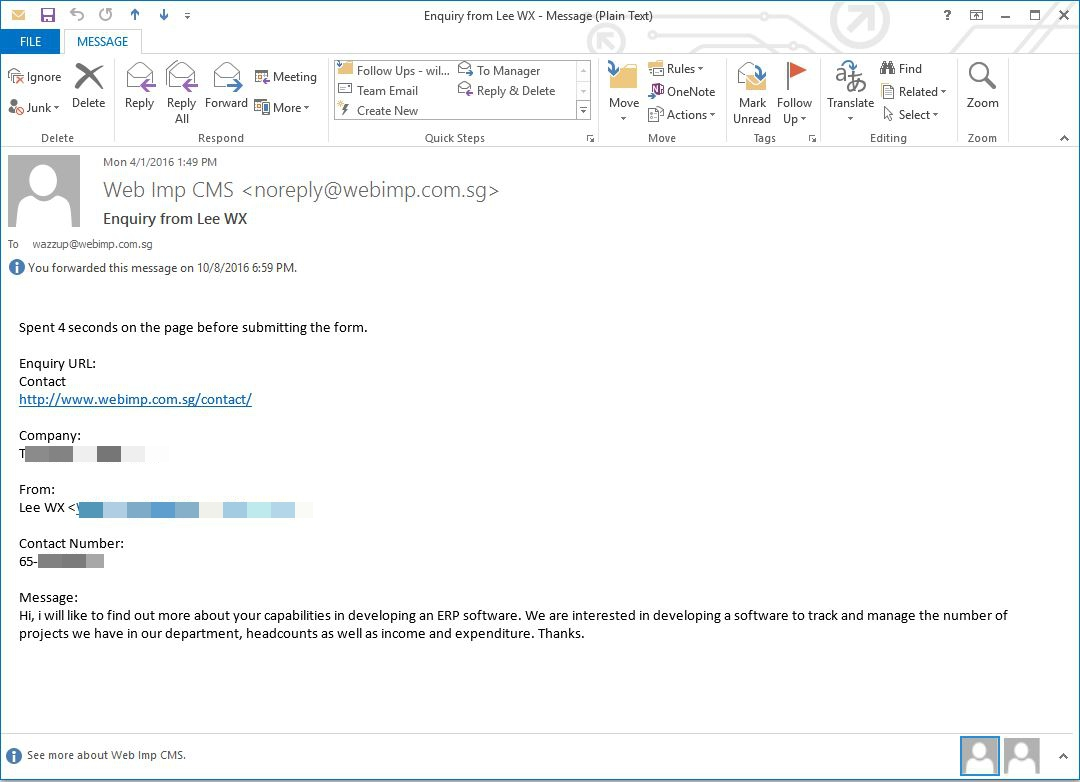 Email conversation with Life Tech